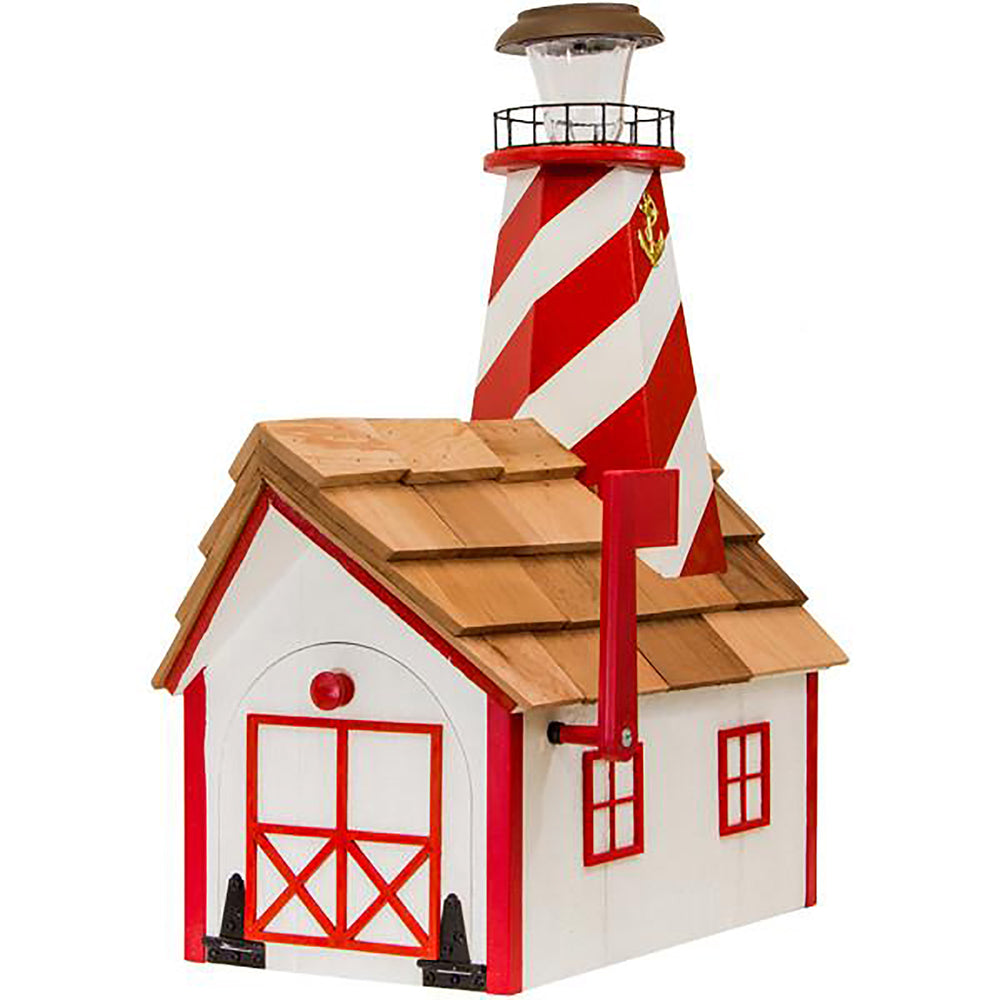 White Shoal Solar Lighthouse Amish Mailbox
