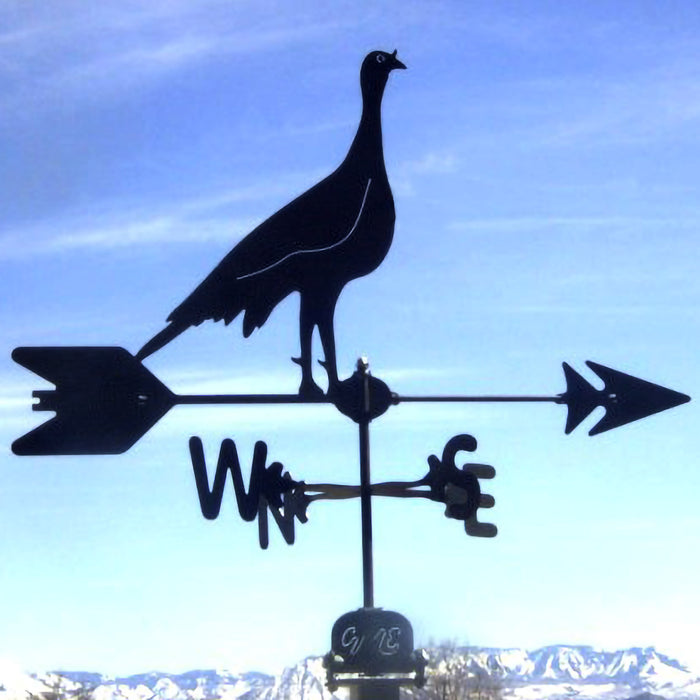 Turkey Silhouette Steel Weathervane