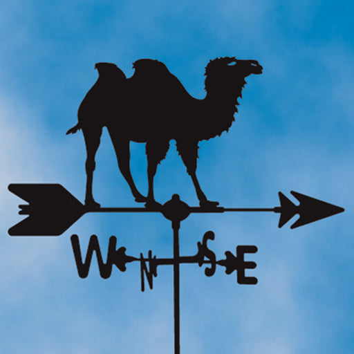 Two Hump Camel Silhouette Steel Weathervane