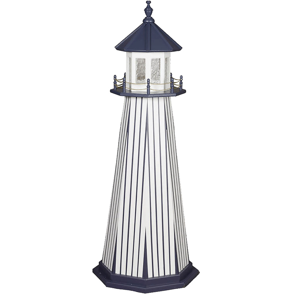 New York Yankees Colors Wooden Lighthouse
