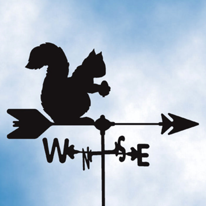 Squirrel Silhouette Steel Weathervane