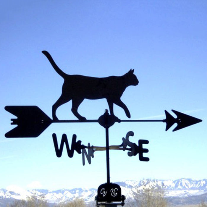 Cat Silhouette Steel Weathervane