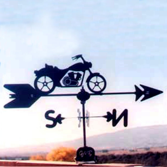Motorcycle Silhouette Steel Weathervane