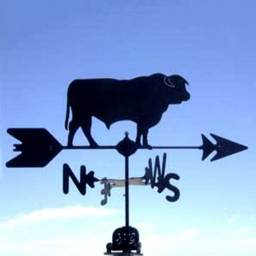 Hereford Bull Silhouette Steel Weathervane