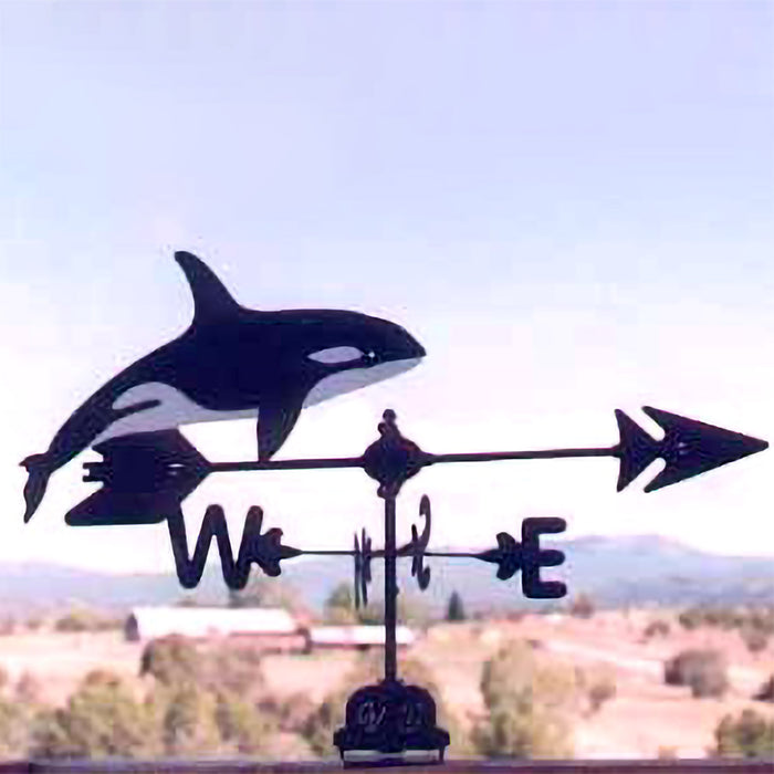 Killer Whale Silhouette Steel Weathervane