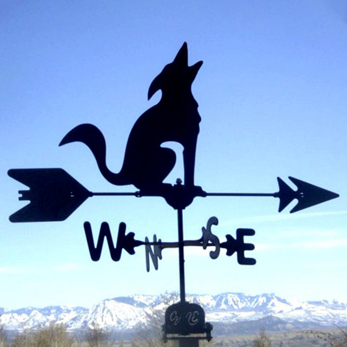Coyote Silhouette Steel Weathervane