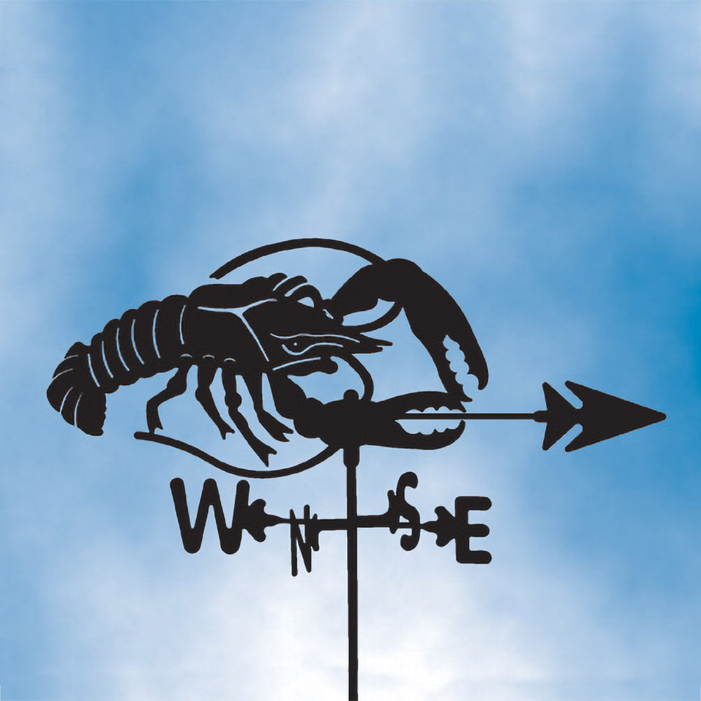 Lobster Silhouette Steel Weathervane