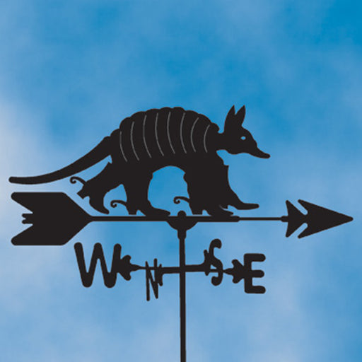 Texas Armadillo Silhouette Steel Weathervane