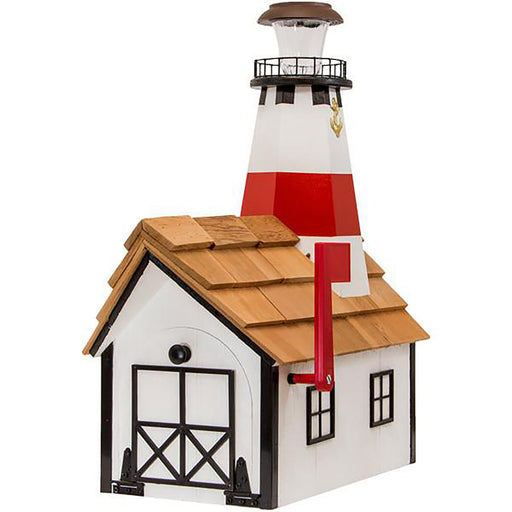 Montauk Point Solar Lighthouse Amish Mailbox