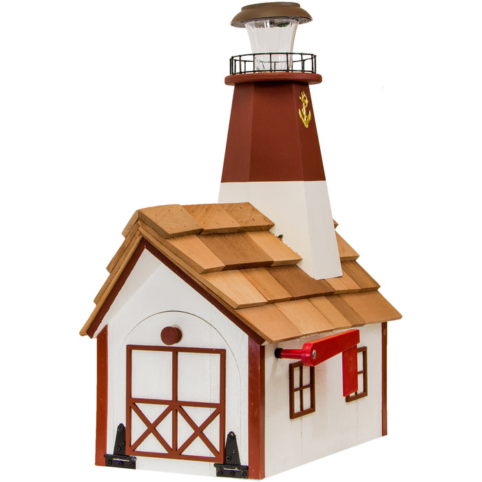 Barnegat Solar Lighthouse Amish Mailbox