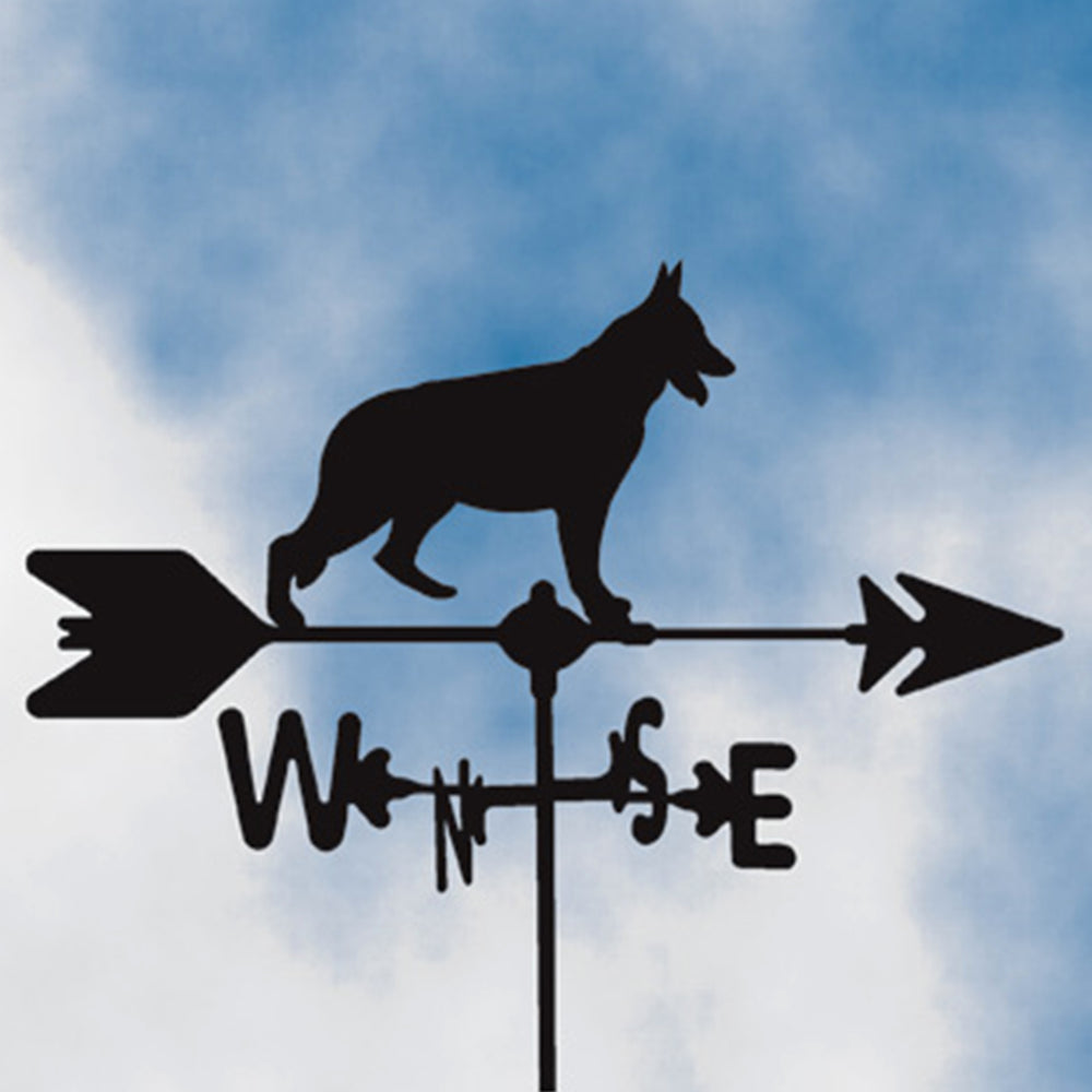 German Shepherd Silhouette Steel Weathervane