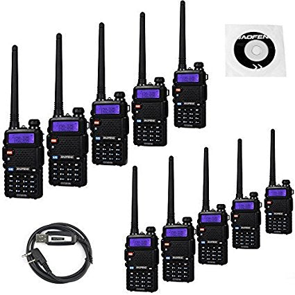 Baofeng UV-5R 8W High Power Two Way Radio Walkie Talkie (10 PACK)