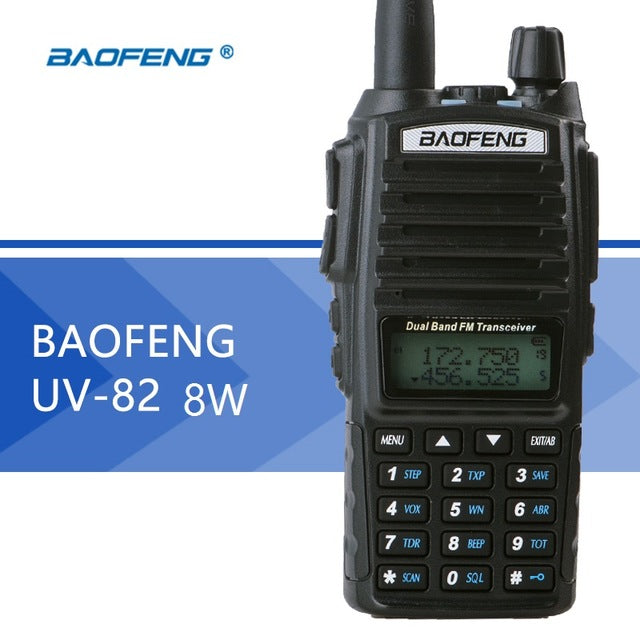 Baofeng UV-82 Real 8W UHF/VHF HIGH POWER Walkie Talkies- Two-way Radios (PACK OF TWO)