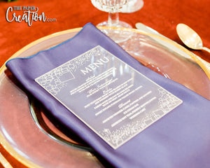 Abstract Acrylic Menu Card