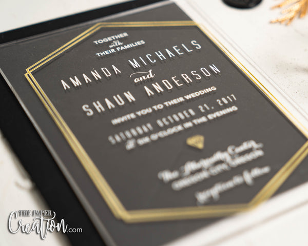 Geo Design Acrylic Invitation