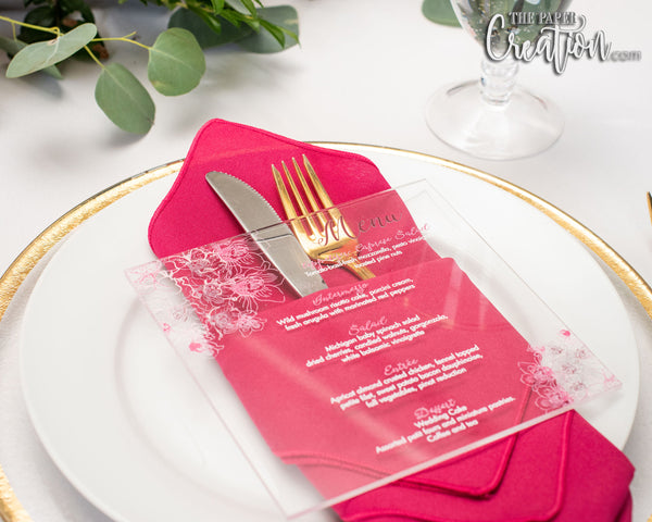 Orchid Acrylic Menu Card