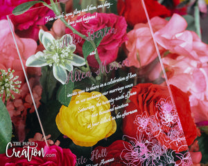 Orchid Acrylic Invitation