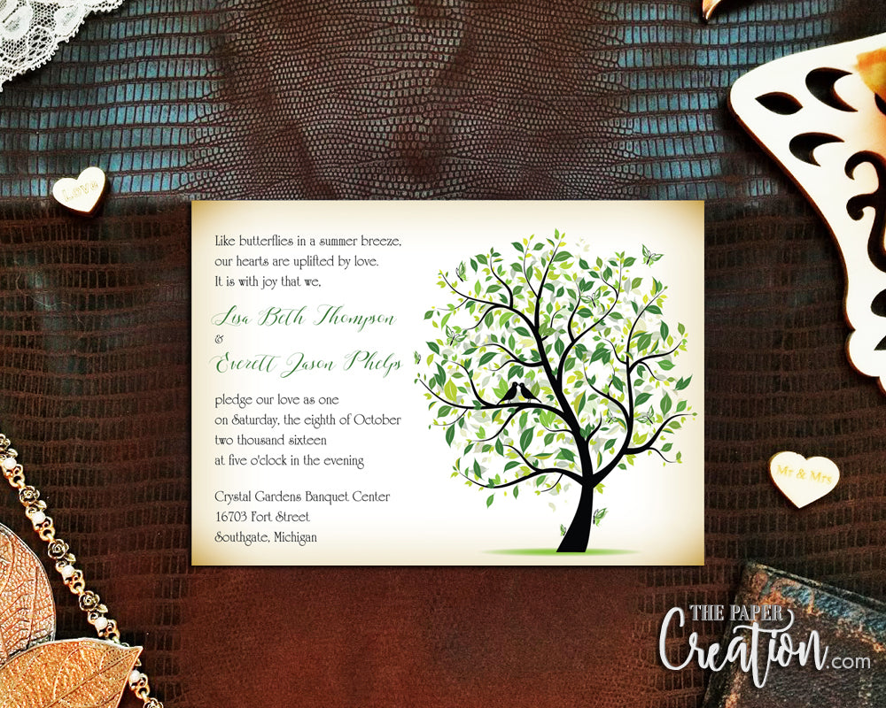 Seasonal Tree Digital Printable Invitation