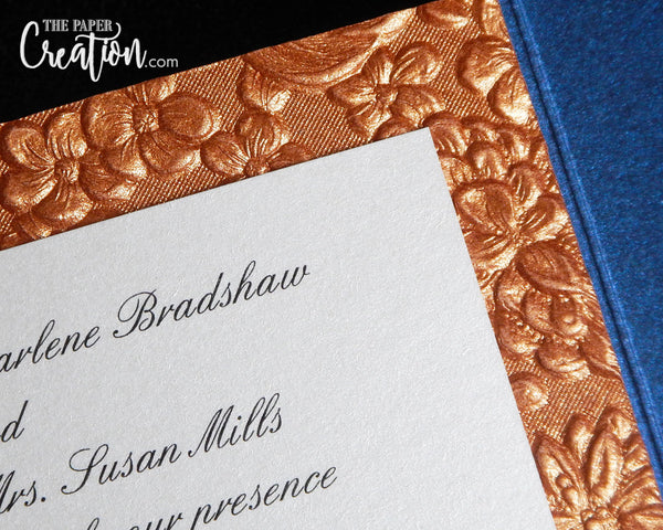 Garden Embossed Pocketfold Wedding Invitation