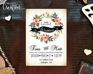 Vintage Wreath Floral Printable Digital