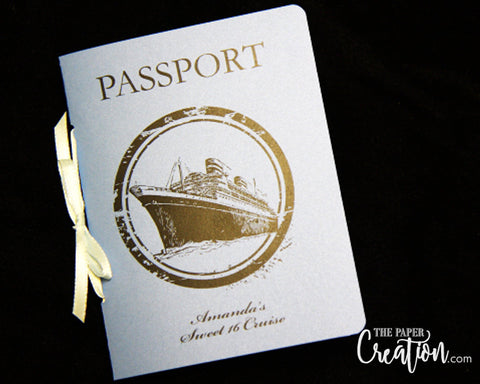 16th Birthday Passport Invitation