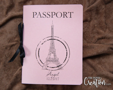 Quinceañera Passport Ticket Invitation, Sweet Fifteen, 16th Birthday, Sweet 16 Party, Birthday Travel Invitation, Paris France Eiffel Tower
