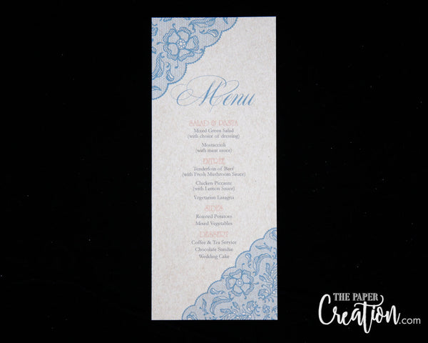 Rustic Kraft Wedding Menu Card