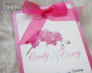 Simple Elegant Tiered Wedding Programs
