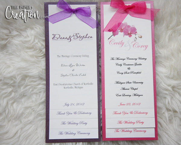 Simple Elegant Tiered Wedding Programs, Stacked Program, Stepped, Layered, Booklet, Thank You Messages