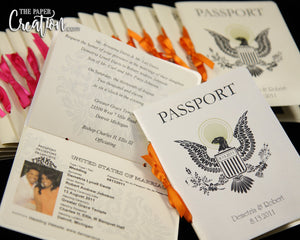 Photo Passport Wedding Invitation, Destination Travel Ticket Eagel, Boarding Pass, Save the Date, Birthday, Bridal Shower