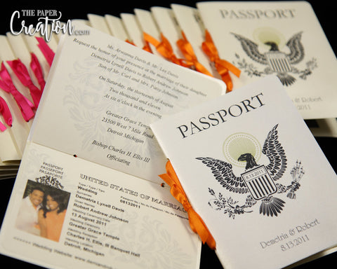 Photo Passport Wedding Invitation