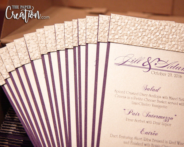 Ivory Pebble Embossed Wedding Program