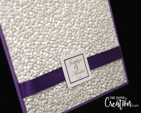 Violvet Purple Wedding Invitation