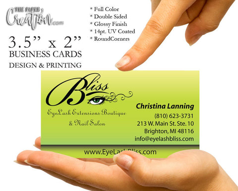 Business Cards Single-Sided Printing
