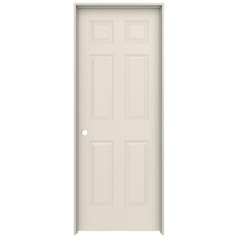 24 in. x 80 in 6 Panel Prime Texture MDF Interior Door