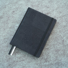 Load image into Gallery viewer, Cork bound notebook with lined pages and back pocket - Black