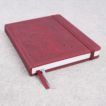 Load image into Gallery viewer, Cork bound notebook with lined pages and back pocket - Wine