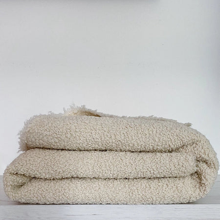 Cream Alpaca Throw