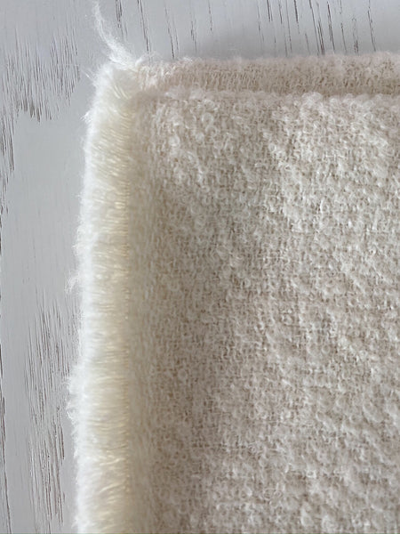 Cream Belgian Linen Throw