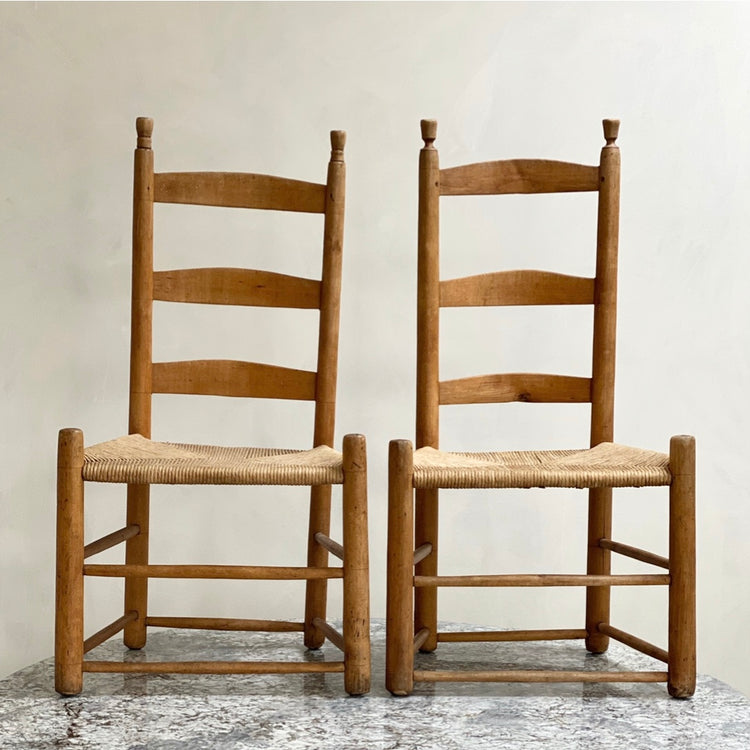 Pair of Quaker Cord Chairs
