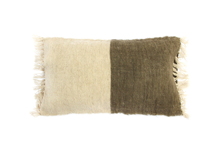 SARAKA Pillow Natural/Olive