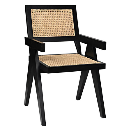 Cane Arm Chair - Black