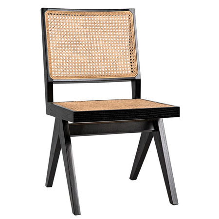Cane Side Chair - Black