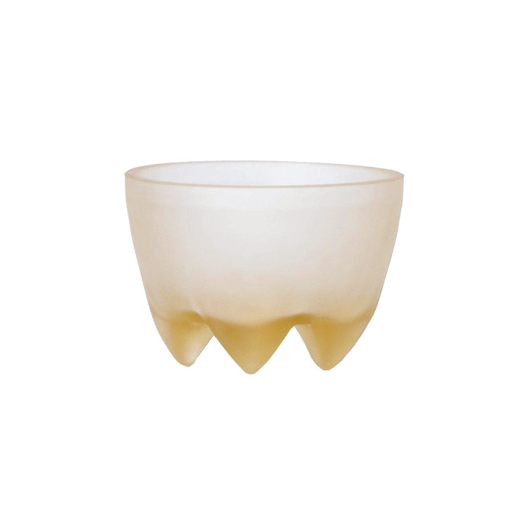 Cast Glass Footed Bowl