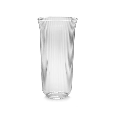 Long Drink Ribbed Glass