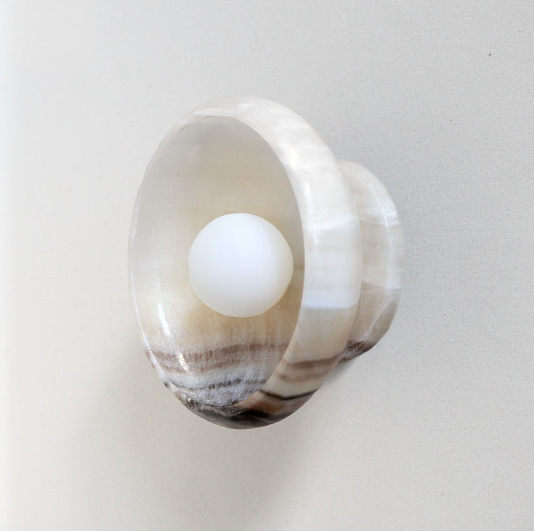 L'aviva Black and White Onyx Sconce