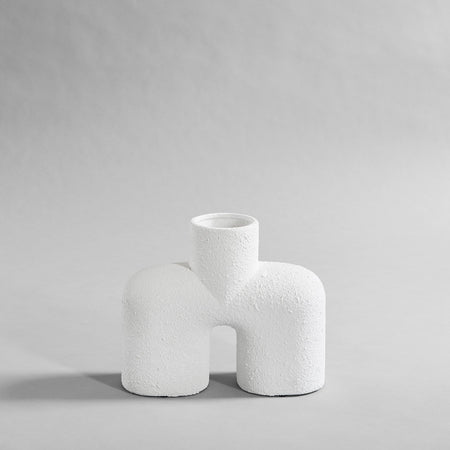 Cobra Bubble White Vase