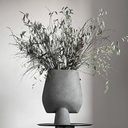 Square Sphere Vase, Big - Dark Grey