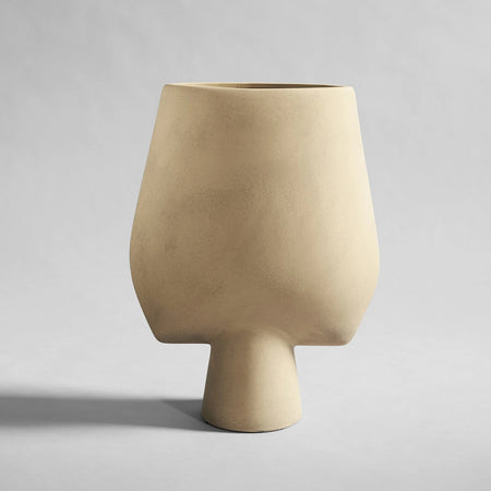 Square Sphere Vase, Big - Sand