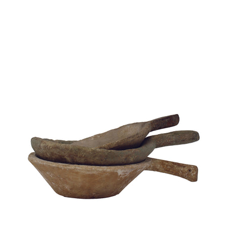 Wooden Bowls with Handle